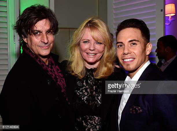 Singersongwriter Jimmy Demers former model Cheryl Tiegs and Olympic speed skater Apolo Ohno attend Global Green USA's 13th annual preOscar party at...