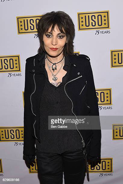 Singersongwriter Joan Jett attends the 75th Anniversary USO Armed Forces Gala at Marriott Marquis Hotel on December 13 2016 in New York City
