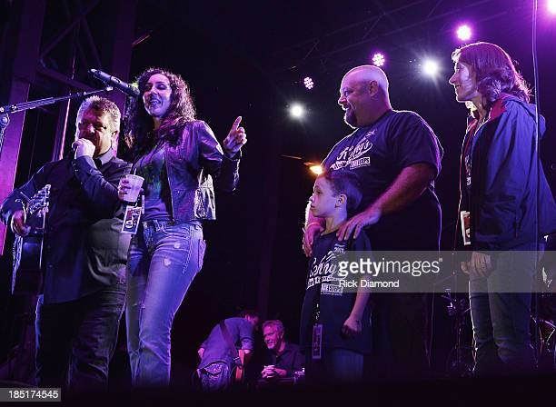 Singer/Songwriter Joe Diffie, Karen Tallier LOUDMOUTH PR, 7 year old Kenny Smith who suffers from Crohns & Colitis disease, his dad Greg Smith and...