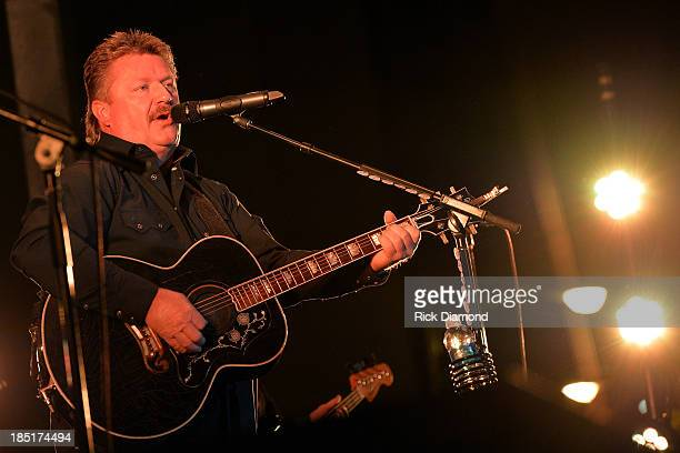 Singer/Songwriter Joe Diffie performs at the 16th annual BudsnSuds Music Festival a benifit for Crohns Colitis Foundation of America Tennessee...