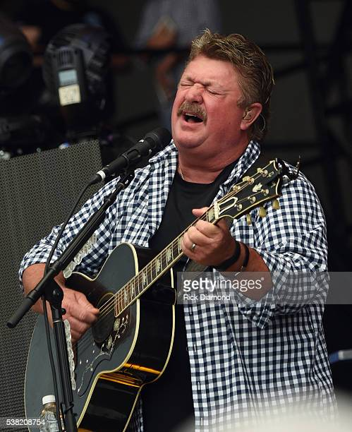 Singer/Songwriter Joe Diffie performs during Pepsi's Rock The South Festival Day 2 at Heritage Park on June 4 2016 in Cullman Alabama