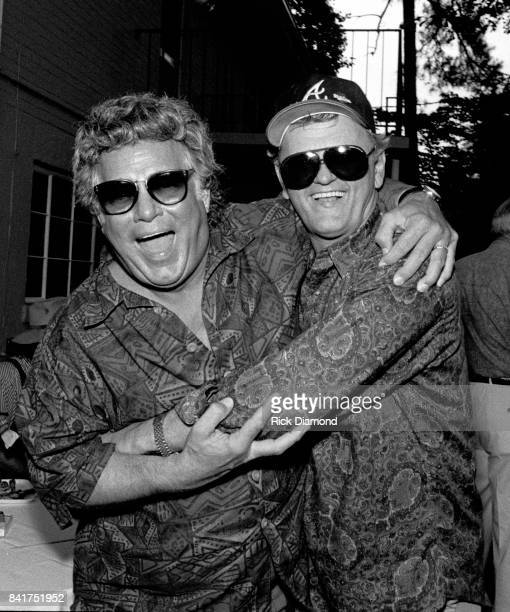 Singer/Songwriter Joe South and Singer/Songwriter/Actor Jerry Reed attend Lowery Group celebration at The Lowery Group offices and Studio in Atlanta...