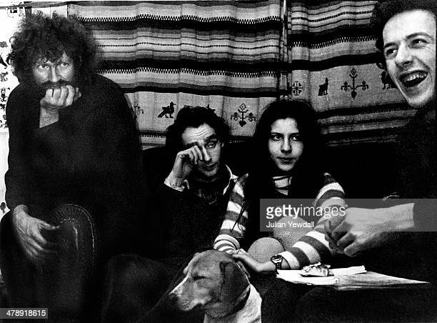 Singersongwriter Joe Strummer of English pub rock group The 101ers in the basement of his squat in Orsett Terrace London W2 1976 Strummer joined The...