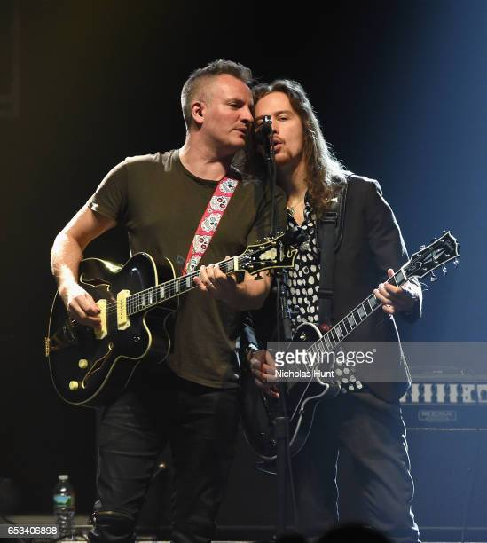 """Singer-songwriter Joe Sumner performs onstage with The Last Bandoleros during the Sting """"57th & 9th"""" World Tour at Hammerstein Ballroom on March 14,..."""
