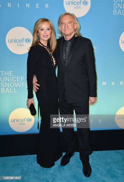 US singer/songwriter Joe Walsh and his wife Marjorie Bach attend the 14th Annual UNICEF Snowflake Ball on November 27 2018 in New York City