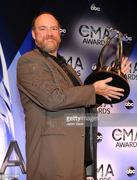 Singer/songwriter John Carter Cash accepts Willie Nelson Lifetime Achievement Award on behalf of his father Johnny Cash at the 49th annual CMA Awards...