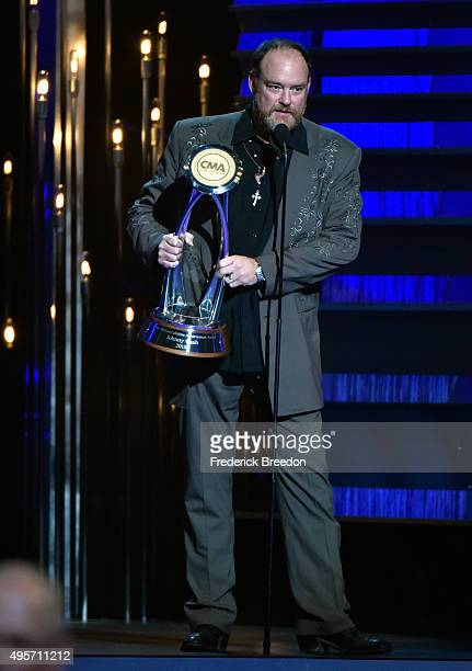 Singersongwriter John Carter Cash accepts Willie Nelson Lifetime Achievement Award on behalf of his father Johnny Cash at the 49th annual CMA Awards...