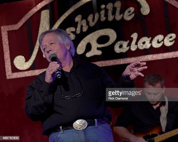 Singer/Songwriter John Conlee performs during the AllStar Whitey Shafer Benefit Hosted By Moe Bandy at The Nashville Palace on March 18 2015 in...