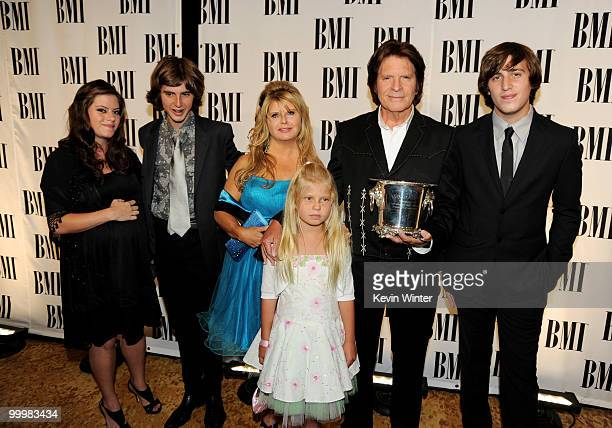 Singer/songwriter John Fogerty his daughter Lyndsay son Tyler wife Julie daughter Kelsy and son Shane arrive at the 58th Annual BMI Pop Awards at the...