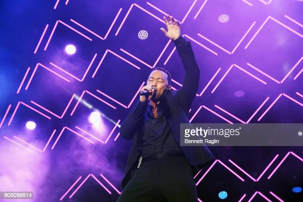 Singersongwriter John Legend performs onstage at the 2017 ESSENCE Festival Presented By Coca Cola at the MercedesBenz Superdome on June 30 2017 in...