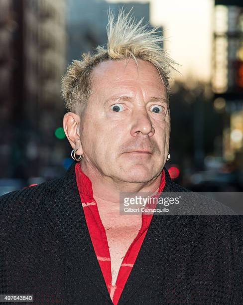 Singersongwriter John Lydon of Public Image Ltd is seen arriving at The Late Show with Stephen Colbert taping outside Ed Sullivan Theater on November...