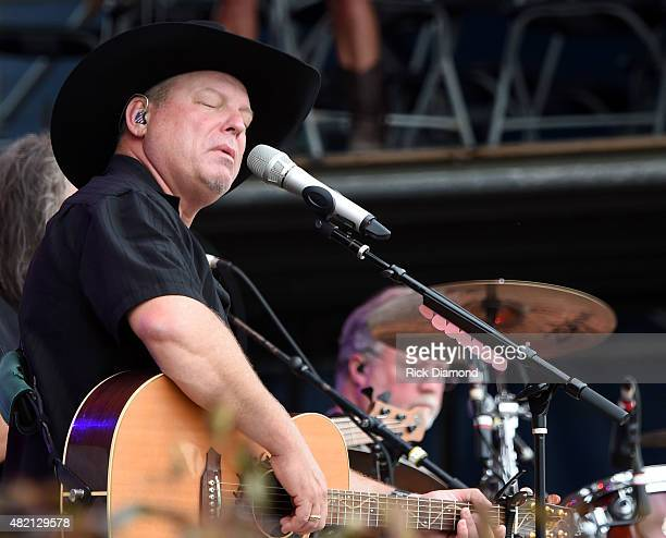 Singer/Songwriter John Michael Montgomery performs at Country Thunder Day 4 In Twin Lakes Wisconsin on July 26 2015 in Twin Lakes Wisconsin