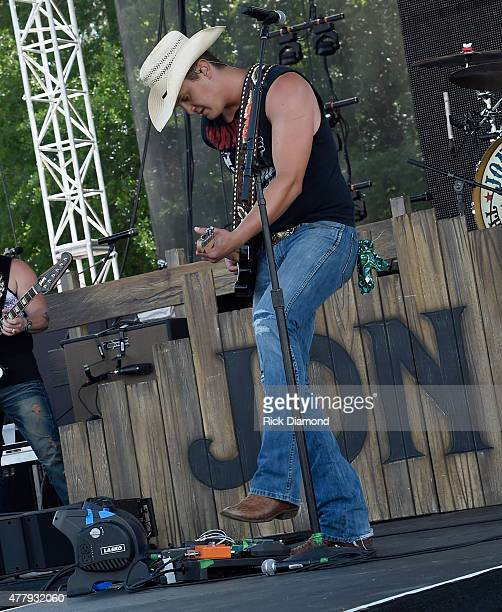 Singer/Songwriter John Pardi performs during The 4th Annual Pepsi's Rock The South Festival Day 2 at Heritage Park in Cullman Alabama