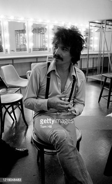 Singer-songwriter John Prine is interviewed after performing at Symphony Hall on April 23, 1975 in Atlanta, Georgia.