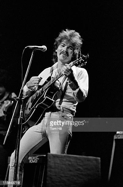 Singer-songwriter John Prine performs at Symphony Hall on April 23, 1975 in Atlanta, Georgia.