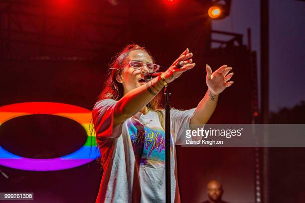 Singer/songwriter JoJo performs on stage at San Diego Pride Festival at Balboa Park on July 14 2018 in San Diego California
