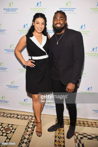 Singersongwriter Jordin Sparks and professional football player Landon Collins attend the Big Brothers Big Sisters of NYC annual Casino Jazz Night at...
