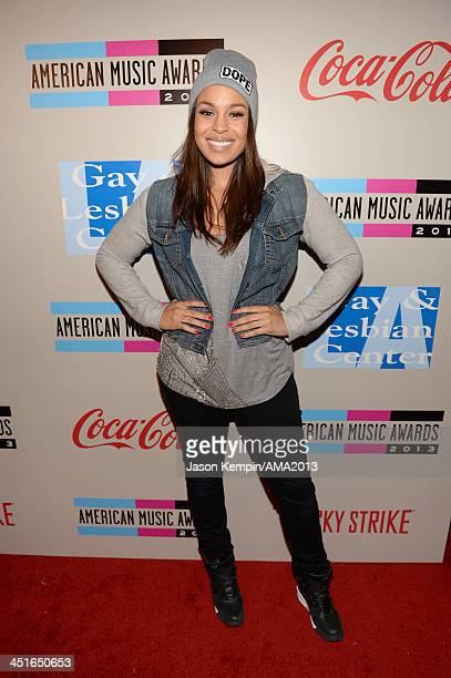 Singer/songwriter Jordin Sparks attends the American Music Awards Bowling For Charity Event hosted by Lance Bass at Lucky Strike at LA LIVE on...