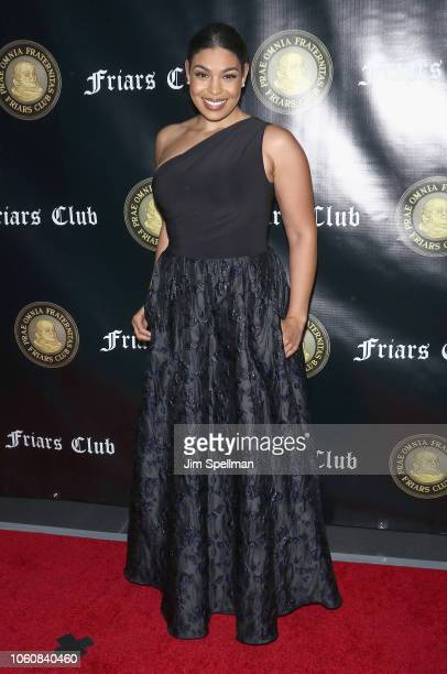 Singer/songwriter Jordin Sparks attends the Friar's Club Entertainment Icon Award at The Ziegfeld Ballroom on November 12 2018 in New York City