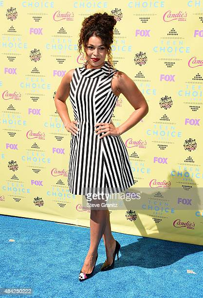 Singersongwriter Jordin Sparks attends the Teen Choice Awards 2015 at the USC Galen Center on August 16 2015 in Los Angeles California