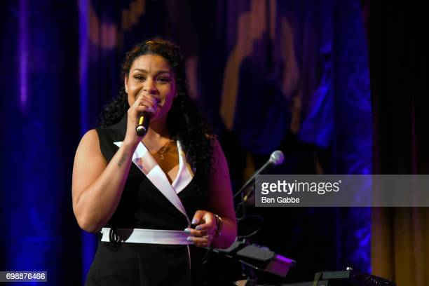 Singersongwriter Jordin Sparks performs at the Big Brothers Big Sisters of NYC annual Casino Jazz Night at Cipriani 42nd Street on June 20 2017 in...