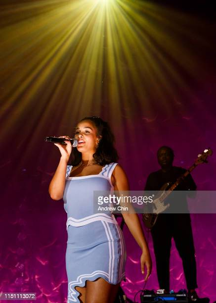 Singersongwriter Jorja Smith performs on stage at PNE Forum on May 22 2019 in Vancouver Canada