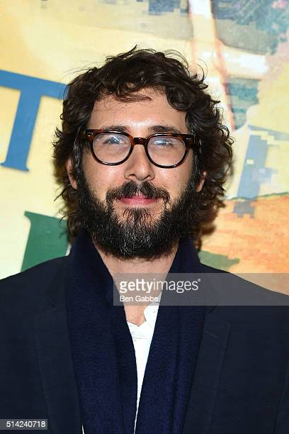 Singer/songwriter Josh Groban attends 'The Royale' Opening Night at the Mitzi E Newhouse Theater Lobby on March 7 2016 in New York City
