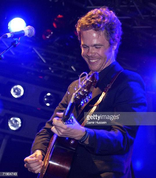 US singersongwriter Josh Ritter performs live on the Garden Stage on day one of The End Of The Road Festival on September 15 2006 near Salisbury...