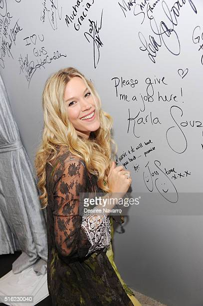 Singersongwriter Joss Stone discusses her career and her new studio album 'Water for Your Soul' during AOL Build at AOL Studios In New York on March...