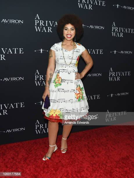 Singersongwriter Joy Villa arrives at Aviron Pictures' Los Angeles Premiere of 'A Private War' at the Samuel Goldwyn Theater on October 24 2018 in...