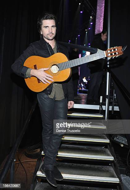 Singer/songwriter Juanes attends the 2012 Person of the Year honoring Caetano Veloso at the MGM Grand Garden Arena on November 14 2012 in Las Vegas...