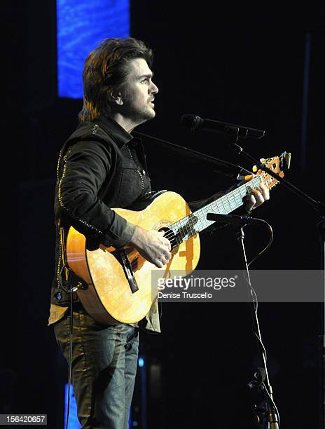 Singer/songwriter Juanes during the 2012 Person of the Year honoring Caetano Veloso at the MGM Grand Garden Arena on November 14 2012 in Las Vegas...
