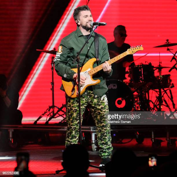 Singersongwriter Juanes performs live on stage at the Hulu Theater at Madison Square Garden on April 27 2018 in New York City
