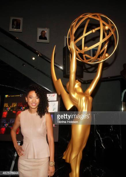 Singer/songwriter Judith Hill attends the 66th Emmy Awards Governors Ball 2014 Creative Arts Ball sneak peek press preview at Leonard H Goldenson...