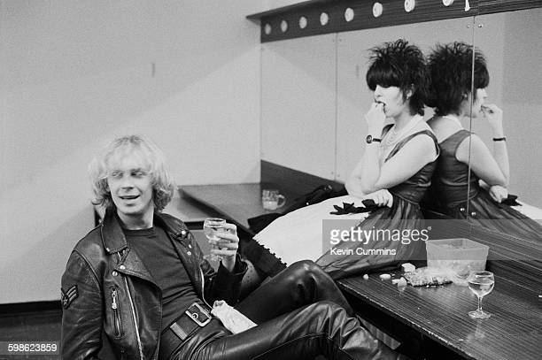 Singersongwriter Julian Cope of English pop group The Teardrop Explodes backstage at Lancaster University with his wife Dorian 10th October 1982