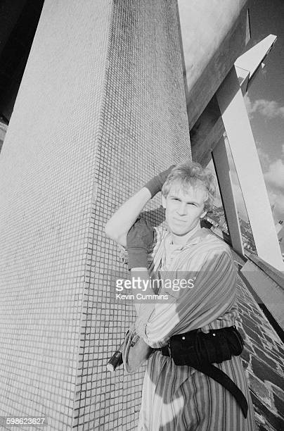 Singersongwriter Julian Cope of English pop group The Teardrop Explodes outside Liverpool Metropolitan Cathedral Liverpool November 1981