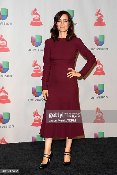 Singer/songwriter Julieta Venegas poses in the press room at the 14th Annual Latin GRAMMY Awards held at the Mandalay Bay Events Center on November...
