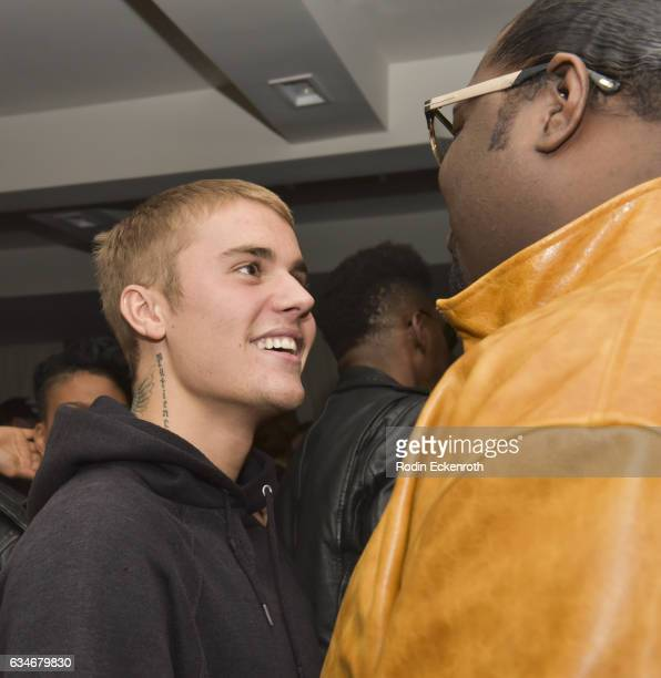 Singersongwriter Justin Beiber attends Poo Bear GRAMMY Party at Serafina Sunset on February 10 2017 in West Hollywood California