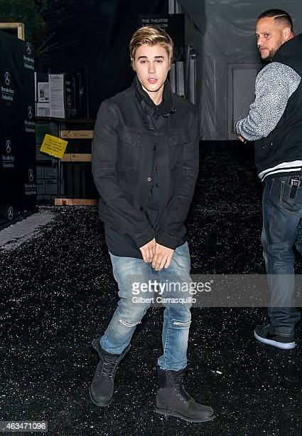 Singersongwriter Justin Bieber is seen arriving at Naomi Campbell's Fashion For Relief Charity Fashion Show during MercedesBenz Fashion Week Fall...