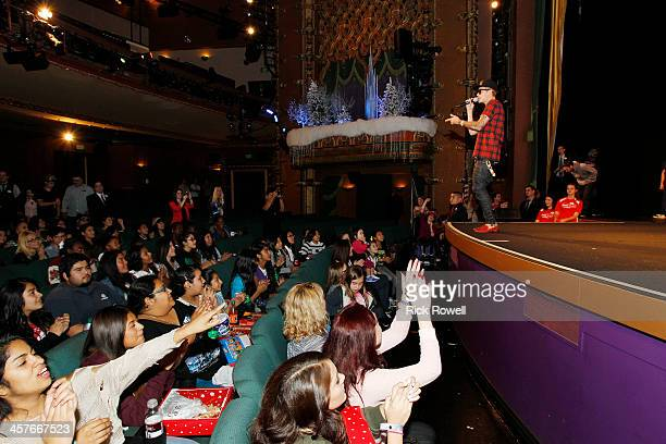 Singer-songwriter Justin Bieber joined Radio Disney Los Angeles and KWalt Disney Television via Getty Images-TV to celebrate Walt Disney Television...