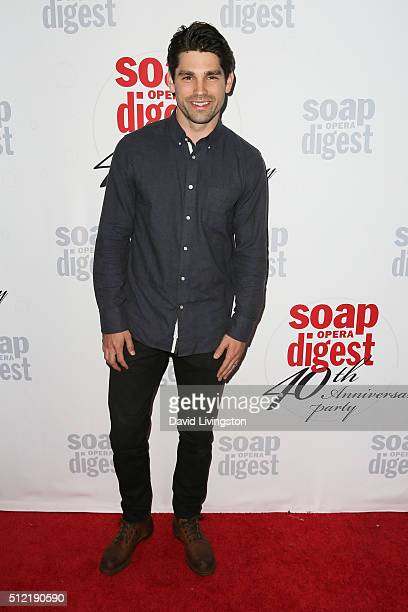 Singersongwriter Justin Gaston arrives at the 40th Anniversary of the Soap Opera Digest at The Argyle on February 24 2016 in Hollywood California
