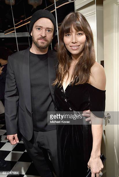 Singer/songwriter Justin Timberlake and actress Jessica Biel attend W Magazine Celebrates the Best Performances Portfolio and the Golden Globes with...