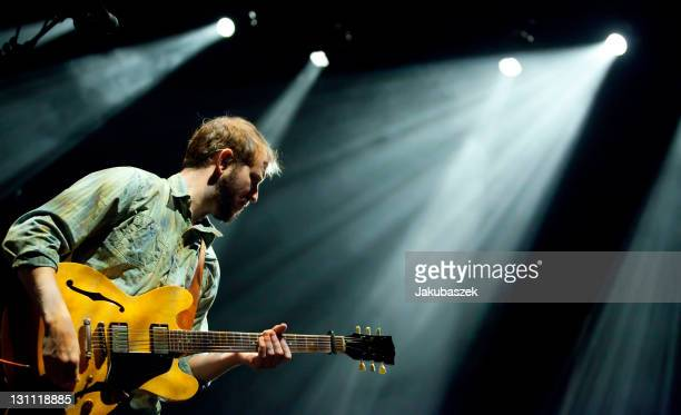 Singersongwriter Justin Vernon of the US folk band Bon Iver performs live during a concert at the Columbiahalle on November 1 2011 in Berlin Germany