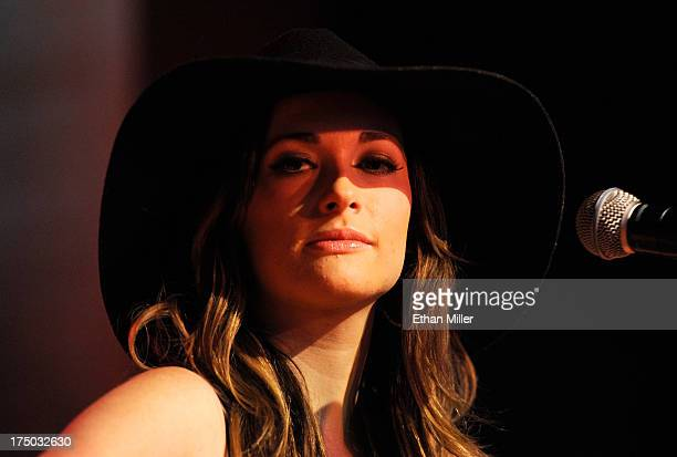 Singer/songwriter Kacey Musgraves performs at Gilley's Saloon Dance Hall BarBQue at the Treasure Island Hotel Casino as she tours in support of the...