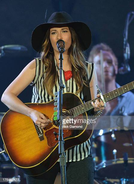 Singer/Songwriter Kacey Musgraves performs during Kenny Chesney's No Shoes Nation on Zac Brown's Southern Ground Tour at the Georgia Dome on August 3...