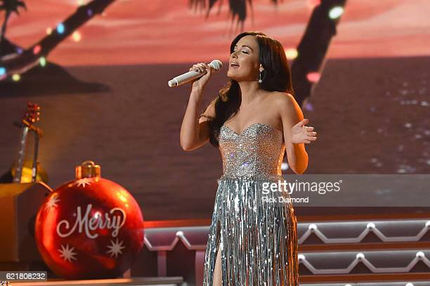Singersongwriter Kacey Musgraves performs on stage during the CMA 2016 Country Christmas on November 8 2016 in Nashville Tennessee