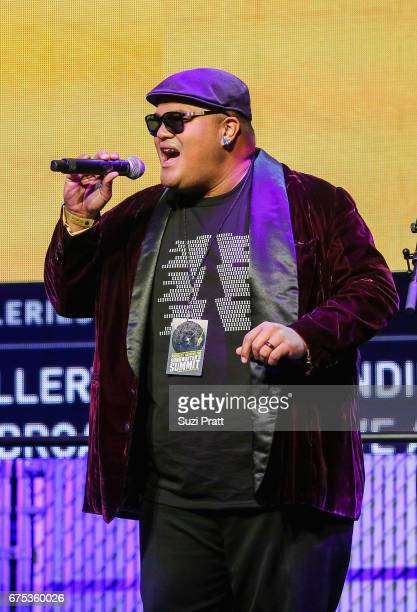Singersongwriter Kalani Pe'a performs at the GRAMMYPro Songwriter's Summit at Museum of Pop Culture on April 30 2017 in Seattle Washington