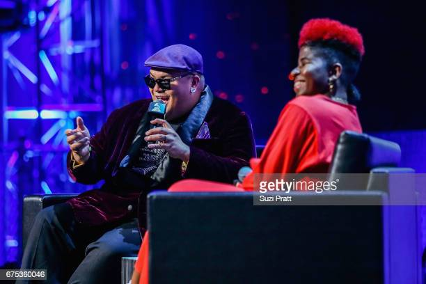 Singersongwriter Kalani Pe'a speaks with Catherine HarrisWhite at the GRAMMYPro Songwriter's Summit at Museum of Pop Culture on April 30 2017 in...