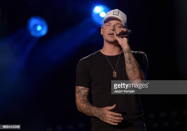 Singersongwriter Kane Brown performs onstage during the 2018 CMA Music festival at the Nissan Stadium on June 7 2018 in Nashville Tennessee