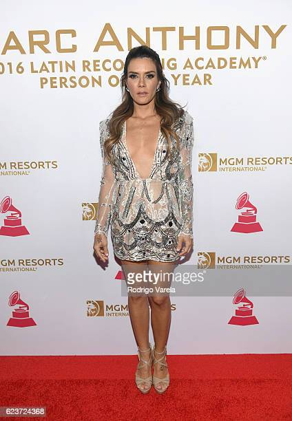 Singersongwriter Kany Garcia attends the 2016 Person of the Year honoring Marc Anthony at the MGM Grand Garden Arena on November 16 2016 in Las Vegas...